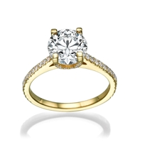 Picture of 1.48 Total Carat Halo Engagement Round Diamond Ring