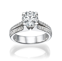 Picture of 1.52 Total Carat Classic Engagement Round Diamond Ring