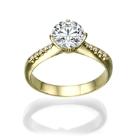 Picture of 0.98 Total Carat Classic Engagement Round Diamond Ring