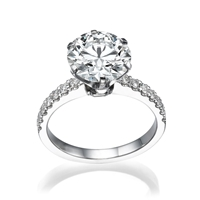 Picture of 1.05 Total Carat Classic Engagement Round Diamond Ring