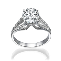 Picture of 1.26 Total Carat Designer Engagement Round Diamond Ring