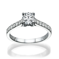 Picture of 1.28 Total Carat Classic Engagement Round Diamond Ring