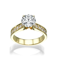 Picture of 1.12 Total Carat Classic Engagement Round Diamond Ring