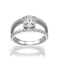 Picture of 1.64 Total Carat Designer Engagement Round Diamond Ring