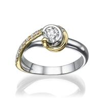 Picture of 0.64 Total Carat Designer Engagement Round Diamond Ring