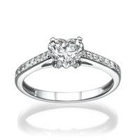 Picture of 1.04 Total Carat Heart Engagement Heart Diamond Ring