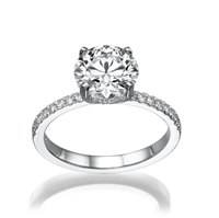 Picture of 1.30 Total Carat Halo Engagement Round Diamond Ring
