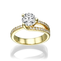 Picture of 0.95 Total Carat Masterworks Engagement Round Diamond Ring