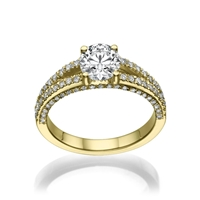 Picture of 1.31 Total Carat Masterworks Engagement Round Diamond Ring