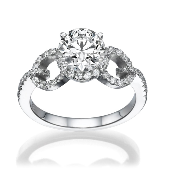 Picture of 1.60 Total Carat Masterworks Engagement Round Diamond Ring