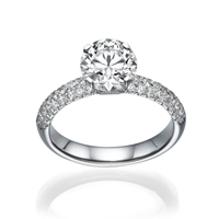 Picture of 1.62 Total Carat Classic Engagement Round Diamond Ring