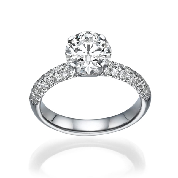 Picture of 2.12 Total Carat Classic Engagement Round Diamond Ring