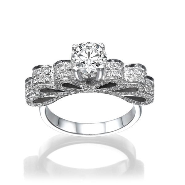 Picture of 1.90 Total Carat Masterworks Engagement Round Diamond Ring