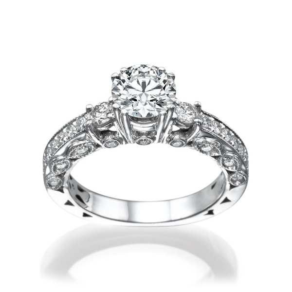 Picture of 1.21 Total Carat Masterworks Engagement Round Diamond Ring