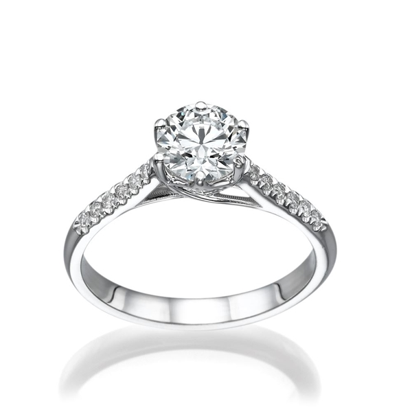 Picture of 0.92 Total Carat Classic Engagement Round Diamond Ring