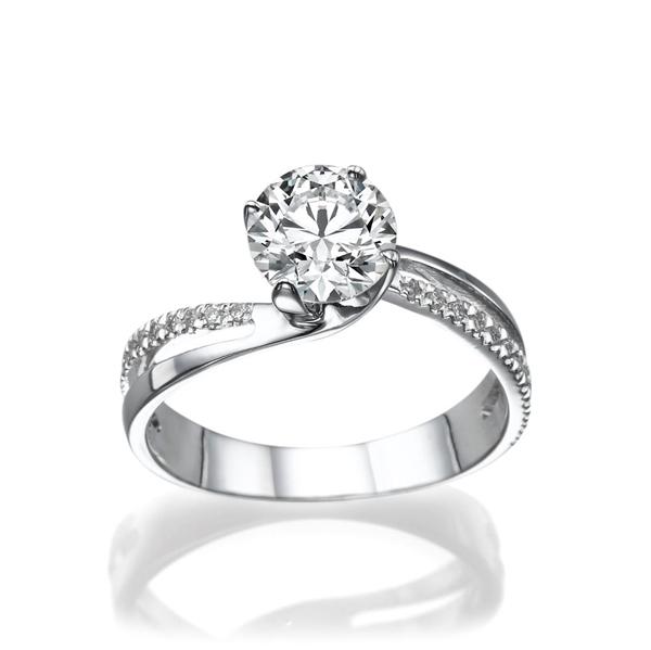 Picture of 0.42 Total Carat Designer Engagement Round Diamond Ring