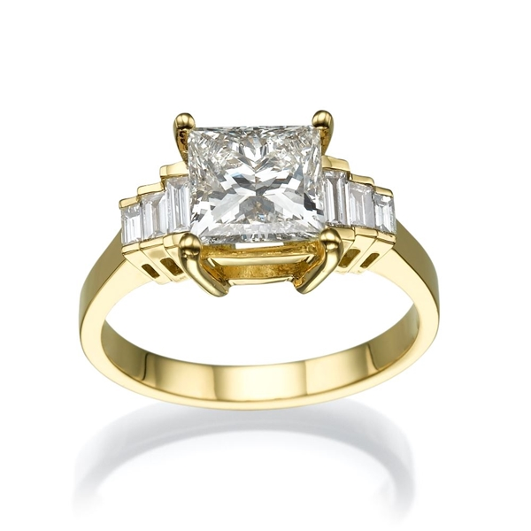 Picture of 2.38 Total Carat Designer Engagement Princess Diamond Ring