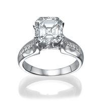 Picture of 0.71 Total Carat Designer Engagement Asscher Diamond Ring