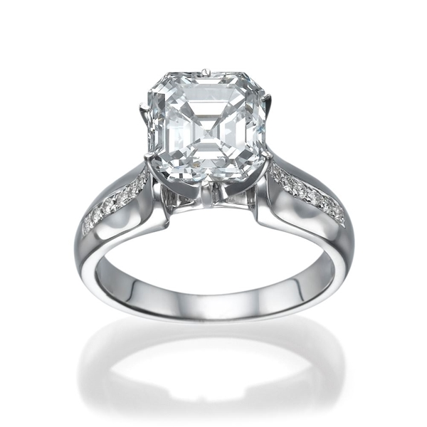Picture of 1.11 Total Carat Designer Engagement Asscher Diamond Ring