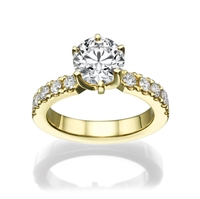 Picture of 2.01 Total Carat Classic Engagement Round Diamond Ring