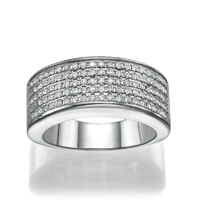 Picture of 0.55 Total Carat Designer Wedding Round Diamond Ring