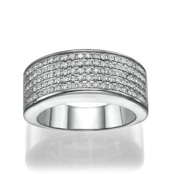 Picture of 0.55 Total Carat Designer Wedding Round Diamond Ring