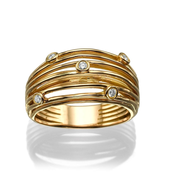 Picture of 0.15 Total Carat Designer Wedding Round Diamond Ring