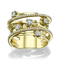 Picture of 0.89 Total Carat Designer Wedding Round Diamond Ring
