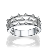 Picture of 0.19 Total Carat Designer Wedding Round Diamond Ring