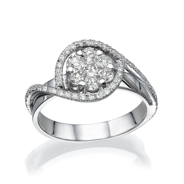 Picture of 0.65 Total Carat Classic Wedding Round Diamond Ring