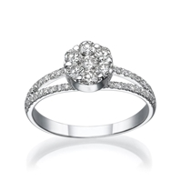 Picture of 0.59 Total Carat Classic Wedding Round Diamond Ring