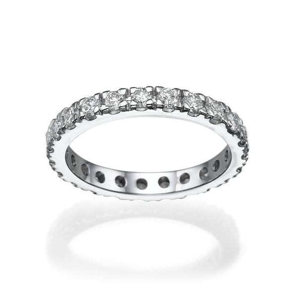 Picture of 1.08 Total Carat Eternity Wedding Round Diamond Ring