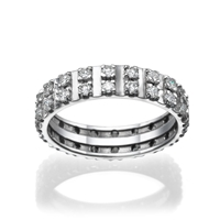 Picture of 1.02 Total Carat Eternity Wedding Round Diamond Ring