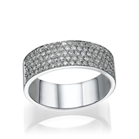 Picture of 0.49 Total Carat Designer Wedding Round Diamond Ring