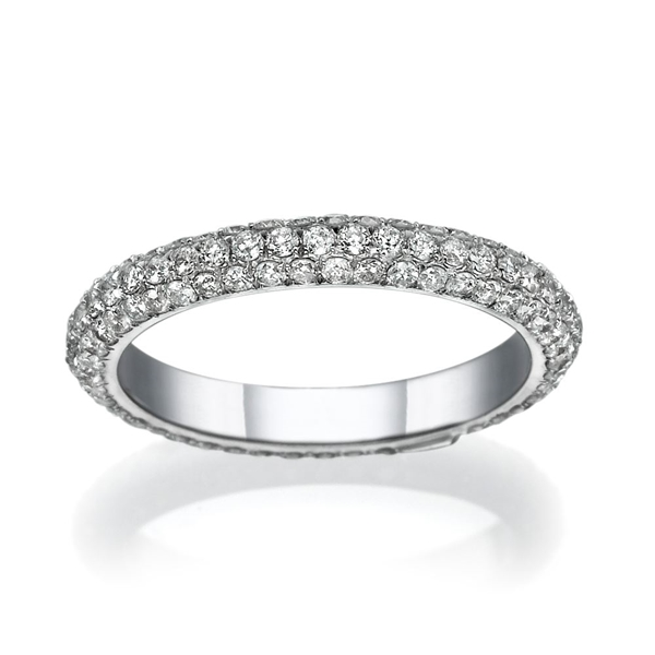 Picture of 1.03 Total Carat Designer Wedding Round Diamond Ring