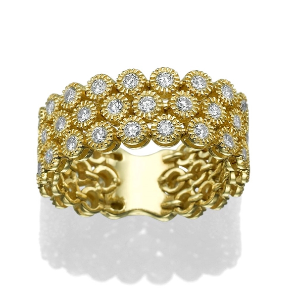 Picture of 1.46 Total Carat Designer Wedding Round Diamond Ring