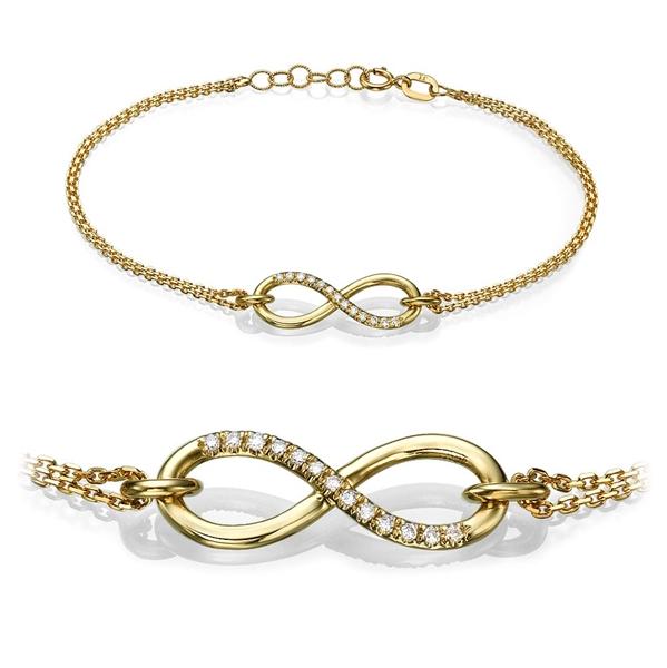 Bild von 0.07 Gesamtkarat Designer-Diamantarmbänder mit Runddiamant