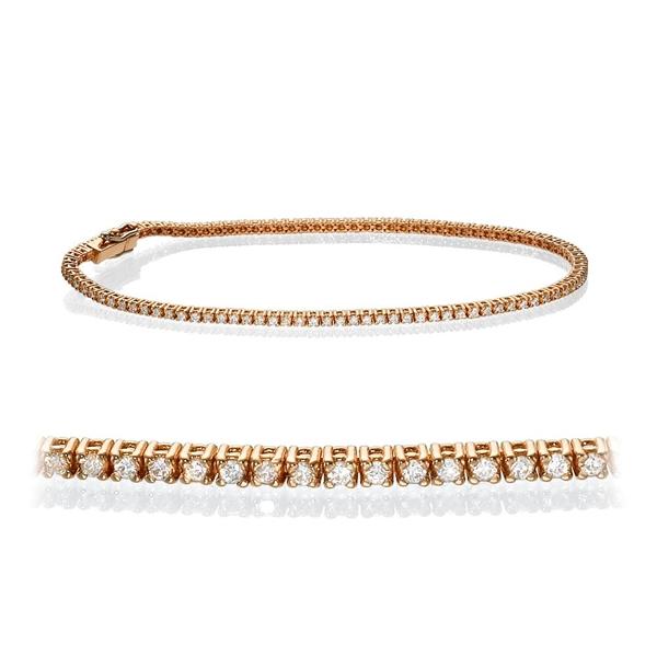Bild von 1.00 Gesamtkarat Tennis-Diamantarmbänder mit Runddiamant
