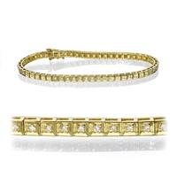 Bild von 1.50 Gesamtkarat Tennis-Diamantarmbänder mit Runddiamant