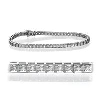 Bild von 0.56 Gesamtkarat Tennis-Diamantarmbänder mit Runddiamant