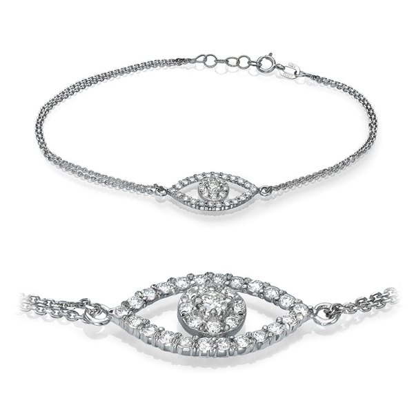 Picture of 0.55 Total Carat Designer Round Diamond Bracelet