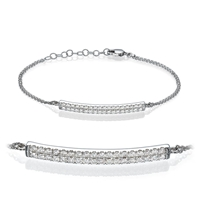 Picture of 0.50 Total Carat Designer Round Diamond Bracelet