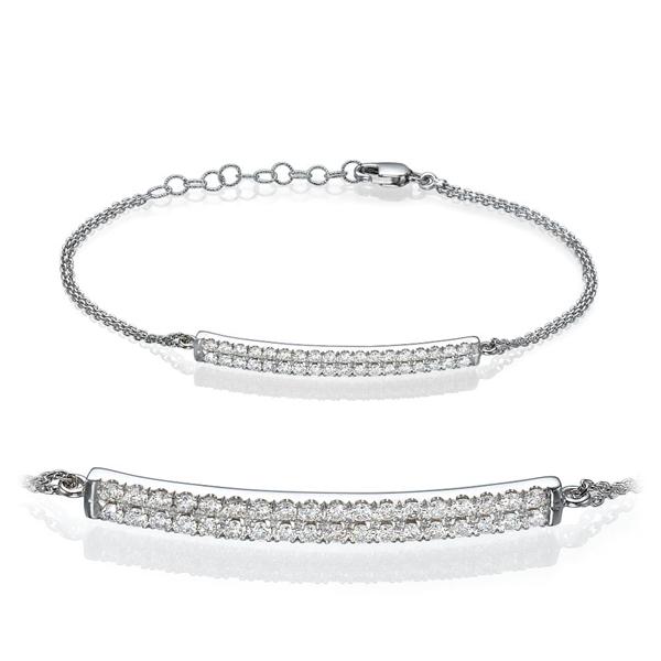 Picture of 0.50 Total Carat Designer Round Diamond Bracelet