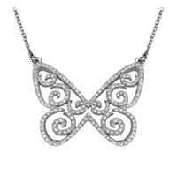 Bild von 0.85 Gesamtkarat Designer-Halsketten mit Runddiamant