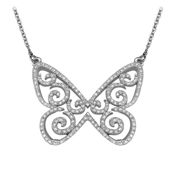 Picture of 0.85 Total Carat Designer Round Diamond Pendant