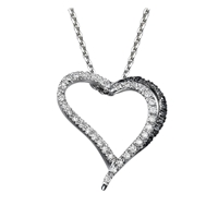 Picture of 0.24 Total Carat Heart Round Diamond Pendant