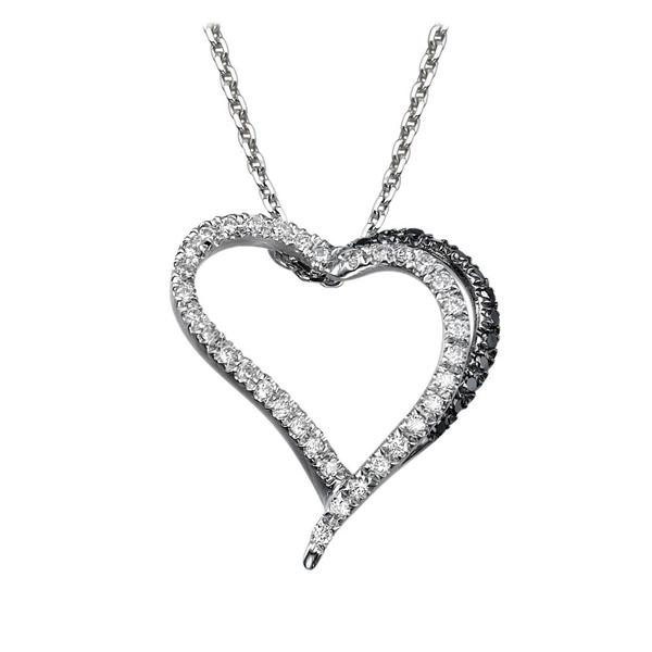 Bild von 0.24 Gesamtkarat Herz-Halsketten mit Runddiamant