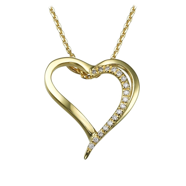 Picture of 0.09 Total Carat Heart Round Diamond Pendant