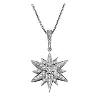 Picture of 0.52 Total Carat Designer Round Diamond Pendant