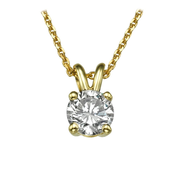 Picture of 0.50 Total Carat Solitaire Round Diamond Pendant